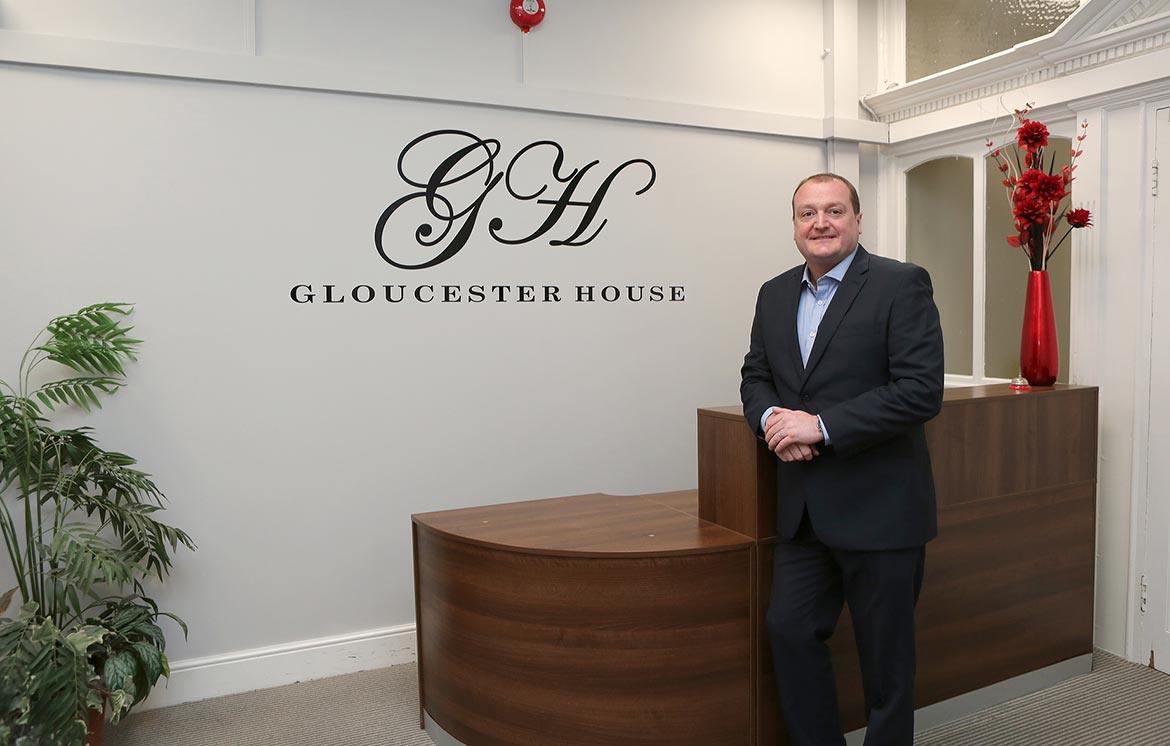 Jeff Highfield in Gloucester House Reception